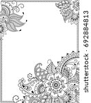 stylized with henna tattoos... | Shutterstock .eps vector #692884813