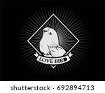 love bird monochrome | Shutterstock .eps vector #692894713