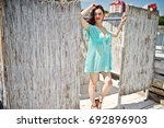 young gorgeous woman having fun ... | Shutterstock . vector #692896903