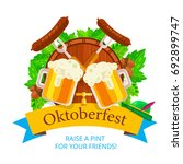 oktoberfest vector background... | Shutterstock .eps vector #692899747