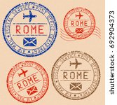 rome postmarks collection.... | Shutterstock . vector #692904373