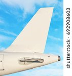 airplane tail fin   sky with... | Shutterstock . vector #692908603