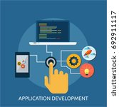 application development | Shutterstock .eps vector #692911117