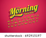 vector of modern stylized font... | Shutterstock .eps vector #692915197