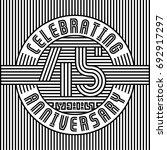 45 years anniversary logo.... | Shutterstock .eps vector #692917297