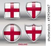 flag of england in 4 shape... | Shutterstock .eps vector #692924467