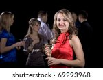 several young people at party.... | Shutterstock . vector #69293968