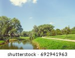 park in the city center in... | Shutterstock . vector #692941963