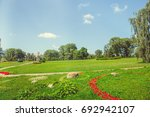 park in the city center in... | Shutterstock . vector #692942107