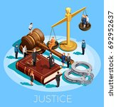 law design isometric conceptual ... | Shutterstock .eps vector #692952637