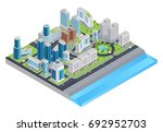 isometric city composition with ... | Shutterstock .eps vector #692952703