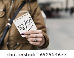 young caucasian woman in the...   Shutterstock . vector #692954677
