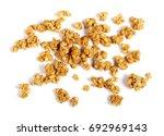 crunchy granola  muesli pile...   Shutterstock . vector #692969143