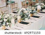 The Wedding Decor. The White...