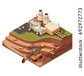 isometric mining composition... | Shutterstock .eps vector #692972773