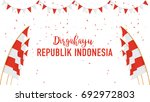 poster or banner indonesian... | Shutterstock .eps vector #692972803