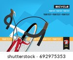bicycle. advertising poster.... | Shutterstock .eps vector #692975353