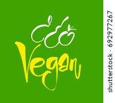 vegan. vector illustration ... | Shutterstock .eps vector #692977267