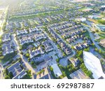 aerial view of residential... | Shutterstock . vector #692987887