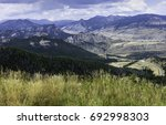 red lodge  montana  usa. rocky... | Shutterstock . vector #692998303