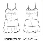 fashion chemise vector sketch | Shutterstock .eps vector #693024067