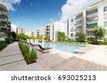 modern residential buildings... | Shutterstock . vector #693025213