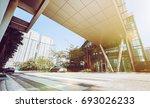 modern building facade in urban ... | Shutterstock . vector #693026233