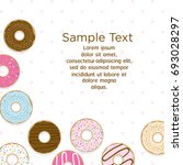 template design with sweet...   Shutterstock .eps vector #693028297