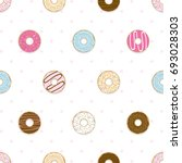 seamless donuts on the soft...   Shutterstock .eps vector #693028303
