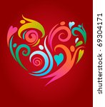 people in love  abstract... | Shutterstock .eps vector #69304171