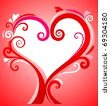 valentines day background | Shutterstock .eps vector #69304180