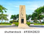 manila american cemetery on aug ... | Shutterstock . vector #693042823