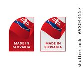 stickers made in slovakia....   Shutterstock .eps vector #693044557