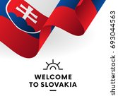 welcome to slovakia. slovakia...   Shutterstock .eps vector #693044563