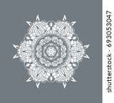 mandala and ornamental round... | Shutterstock . vector #693053047