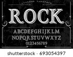 script handcrafted vector... | Shutterstock .eps vector #693054397