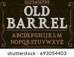 vintage font handcrafted vector ... | Shutterstock .eps vector #693054403