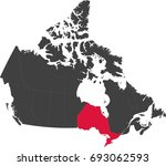 map of canada split into... | Shutterstock .eps vector #693062593