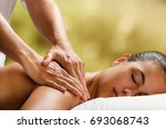 close up of therapist doing... | Shutterstock . vector #693068743