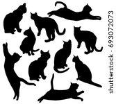 set vector silhouette of the... | Shutterstock .eps vector #693072073