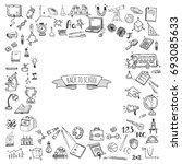 hand drawn doodle back to... | Shutterstock .eps vector #693085633