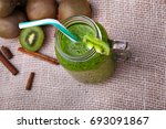 a top view of a jar full of... | Shutterstock . vector #693091867