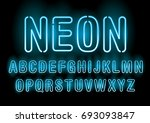 neon typography lettering... | Shutterstock .eps vector #693093847