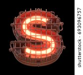 alarm light font. 3d rendering. | Shutterstock . vector #693096757