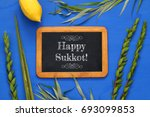 jewish festival of sukkot....   Shutterstock . vector #693099853