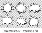 blank template comic text... | Shutterstock .eps vector #693101173
