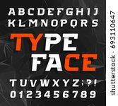 abstract alphabet typeface.... | Shutterstock .eps vector #693110647
