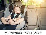 beautyful smiling baby girl...   Shutterstock . vector #693112123