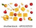 honey in glass bowl  honey in... | Shutterstock . vector #693132523
