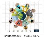 flat design illustration... | Shutterstock .eps vector #693134377